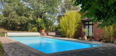 Photo for Cévennes sud Large and beautiful house garden swimming pool jacuzzi