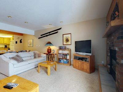 Photo for NEW LISTING! Updated condo with shared hot tub and sauna, walk to the slopes!