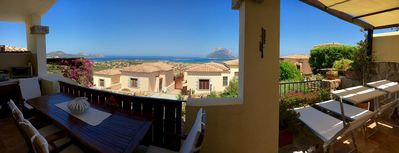 Photo for Fantastic 180 ° view of the sea and the island of Tavolara (large terrace)
