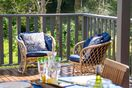 Enjoy afternoon drinks on the deck