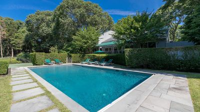 Photo for Tranquility in Southampton w/ Heated Pool, Private Tennis Court, Mature Trees & Lush Landscaping