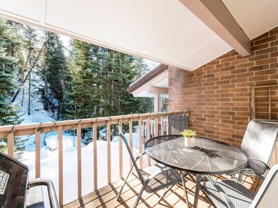 Deck - Enjoy your morning coffee in privacy or a late night cocoa on the deck with Burgess Creek in your backyard.