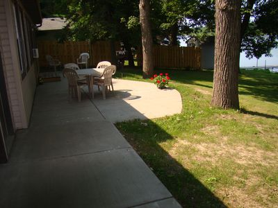 Side view of the patio.