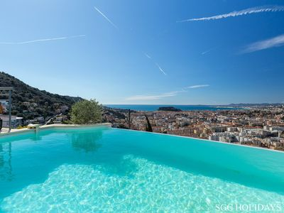 Photo for NICE MONT BORON SUPERVE VILLA WITH SEA VIEW