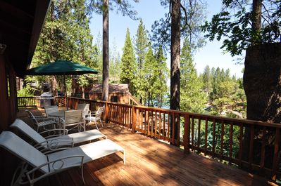 Back Deck, Unit 15 Lot 83, Lakefront Pine Mountain Lake Vacation Rental (The Big Easy)