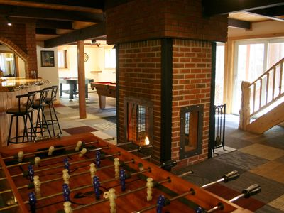 Photo for Pine Brook Lodge: pool table, AC, sauna, fireplaces, internet, bar, walk to town