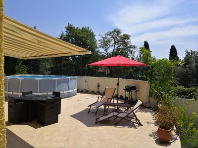 Photo for Roquefort les Pins-2 p-private pool-terrace