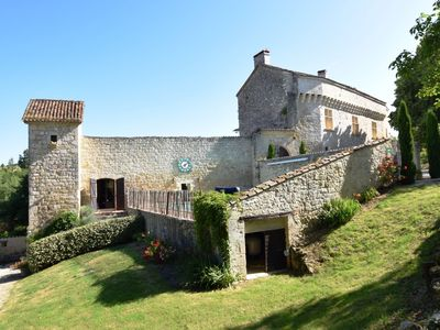 Photo for Chateau from the 12th century with modern comfort in a sublime setting.