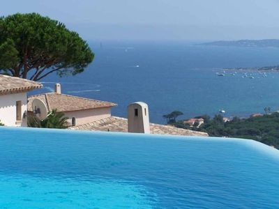 Photo for SAINTE MAXIME VILLA SEA VIEW OVERFLOW SWIMMING POOL