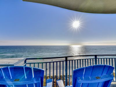 Photo for Pristine, waterfront condo w/ a shared, outdoor pool, hot tub, & fitness room