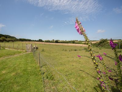 Wonderful views from the decking area onto our farmland