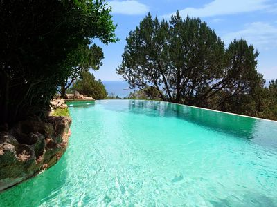 Photo for Villa pool sea view in Palombaggia