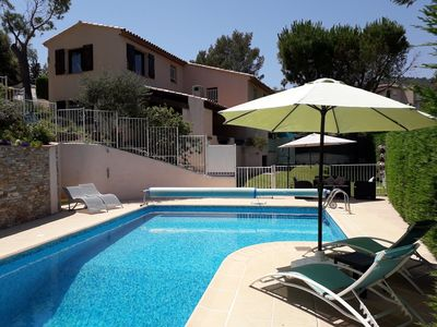 Photo for Villa with private heated pool, within walking distance of local beaches