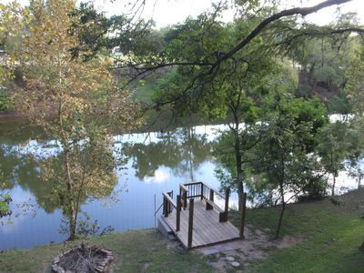Photo for Guadalupe River Front ,3brs,3baths,fish,float Deep Area