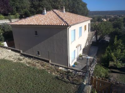 Photo for Volx in the heart of Provence, pretty low villa.