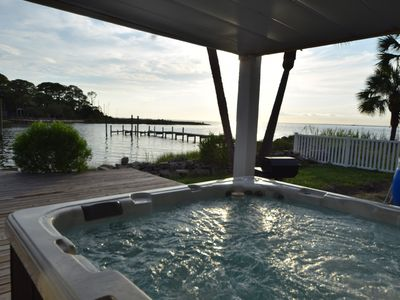 Photo for Summer dates open! Water front, Dock,  Pool, Game Room, Hot tub VIEWS! Dogs OK