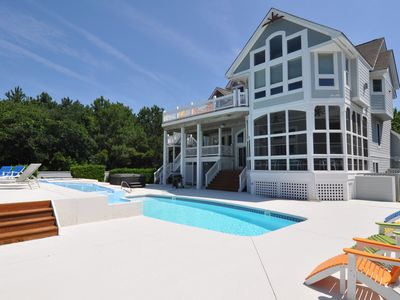 Photo for Tranquility Farms: Soundfront, Currituck Club Amenities, Sleeps 18
