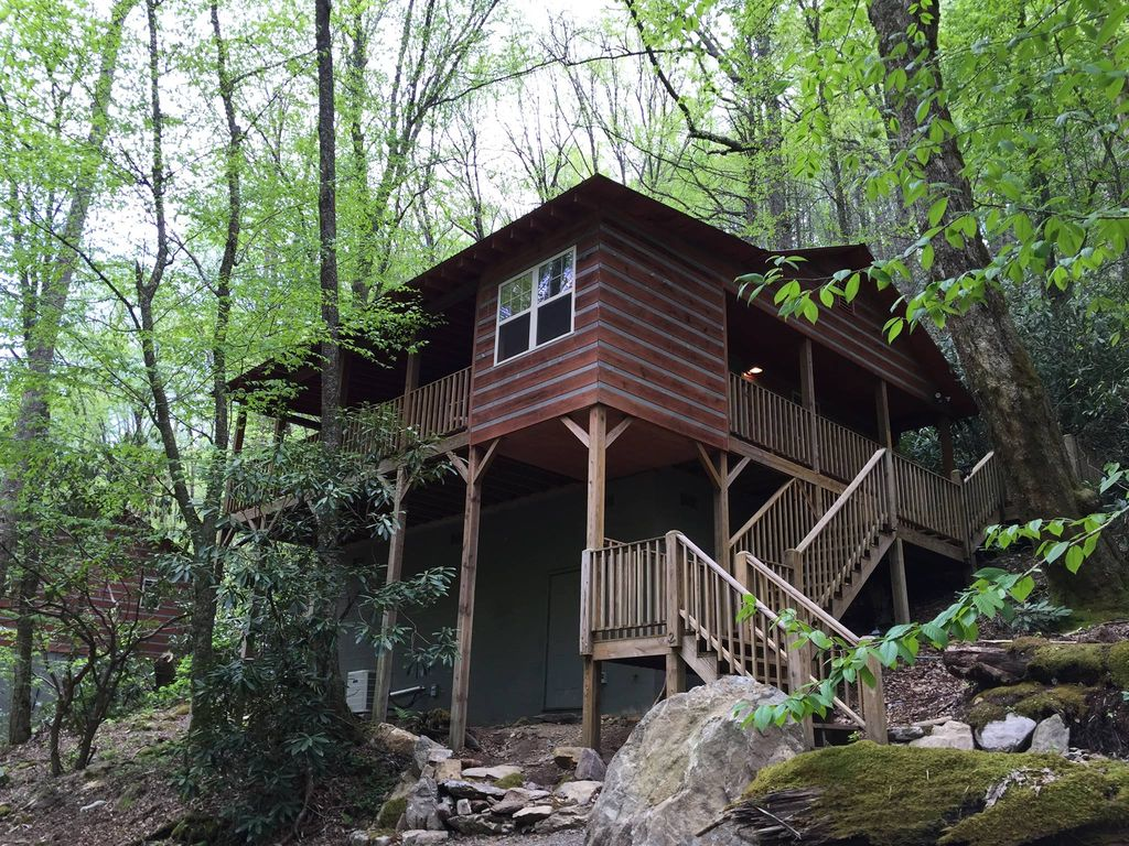 18 acres of your own private trout fishing 2 cabins for The cabins at nantahala