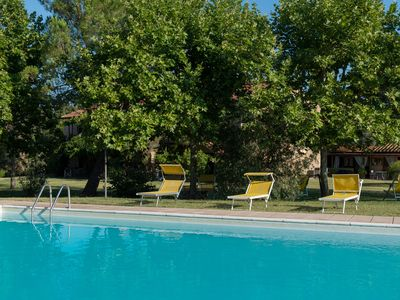 Photo for Apartment in farmhouse in Tuscany with swimming pool, wifi, restaurant, garden