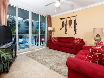 Photo for Cute, coastal condo at Waterscape! Free beach service! Washer/dryer in-unit! Lazy river on-site!