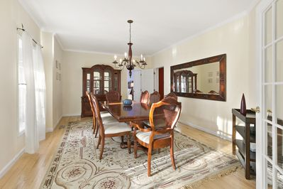 Formal dining room for 8-10