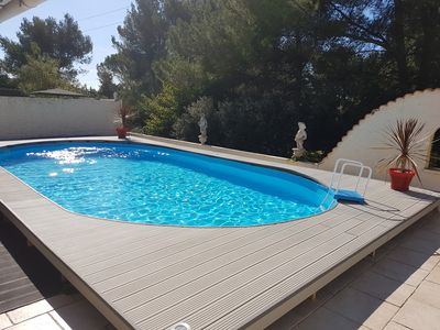 Photo for beautiful villa with pool in a small subdivision very quiet.