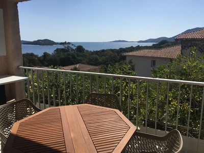 Photo for mini apartment terrace (studio) porto-vecchio sea view 200m from the sea
