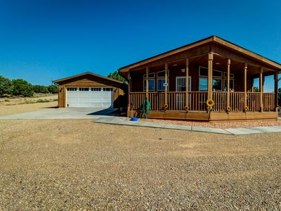 Photo for NEW LISTING! Newly renovated cabin-style home w/ outdoor firepit, on 20 acres!