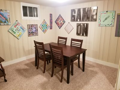Gathering area for breakfast or games.