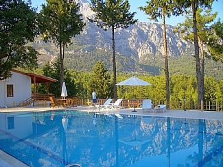 Olympos Mountain's reflection in the pool