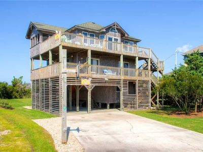 Photo for Fun in the Sun at Semi-Oceanfront Home, Salvo- Pool, Tiki Bar, Hot Tub, Game Rm