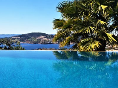 Photo for Luxury villa sea view, heated pool, sauna, jacuzzi, golf and beaches, 5 bedrooms