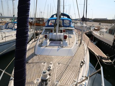 Photo for BOAT 14m, VOILIER A QUAI, 6 People, Air-conditioned, very pleasant and comfortable
