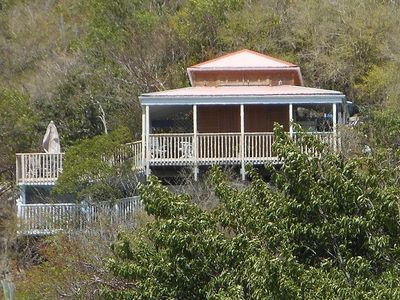 Built on two levels plus a loft, the retreat offers large decks and porches