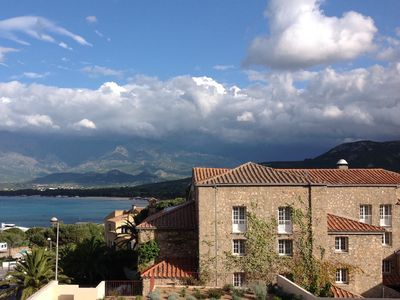 Photo for CALVI, T2 NEW SEA VIEW, wifi, beach and town center 5 mm, 4 people