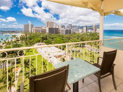 Photo for Tropical Touches+Homey Comfort! Great View, Kitchenette, WiFi–Waikiki Shore #1204