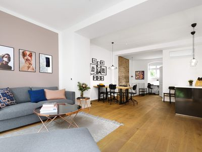 Photo for 3-room luxury wellness loft with its own sauna, terrace and eat-in kitchen