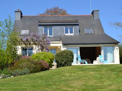 Photo for Beautiful house on large garden overlooking the Gulf of Morbihan