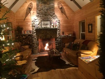 Photo for Moose Pond Cabin ~ Enjoy riding ur snowmobile from the cabin to the VAST TRAILS