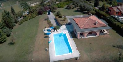 Photo for VILLA TOSCA - VILLA with private pool, large garden and lake view.