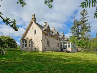 Photo for Abbey Lodge is a traditional Scottish lodge steeped in character it is secluded.
