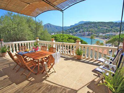 Photo for Beach House in Port de Soller. Great terrace, gorgeous views!