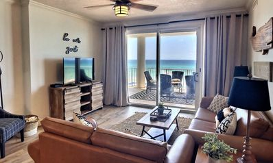 Photo for Beachfront Balcony! Renovated. Corner unit. Reserved parking. WiFi