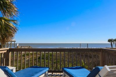 Take in the blue skies, crashing waves and ocean breezes from the sundeck!