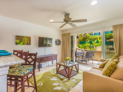 Photo for 2 Bedroom Oceanfront Kapaa Condo with Pool (115)
