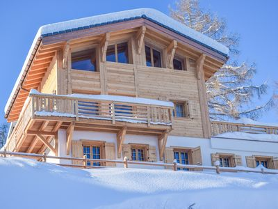 Photo for Chalet Grand Roi - Gorgeous chalet with 5 bedrooms & sauna & stunning views