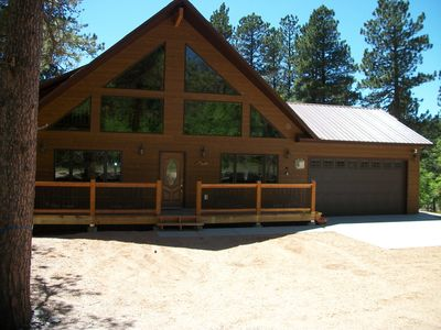 Photo for NOVEMBER RATE 199 A NIGHT CUSTOM CABIN LOCATED ON TERRY PEAK CLOSE TO DEADWOOD!!