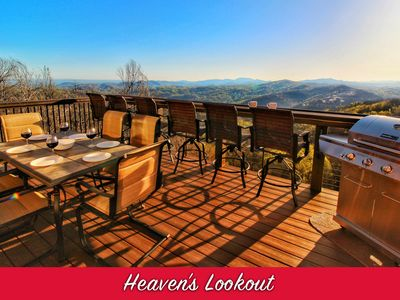 Photo for BRAND NEW Luxury Cabin! 4 Decks! WOW Views & Game Room! 2 Masters, 5 Fireplaces!