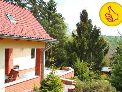 Photo for Your holiday home with stunning views over the Harz mountains in Güntersberge