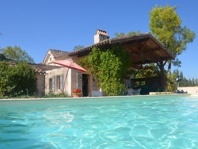 Photo for Renovated Quercy stone. Privacy. Heated private swimming pool.